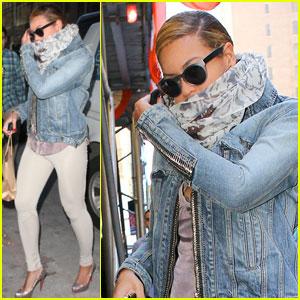 Beyonce à NYC aujourd'hui (03/02/2012)