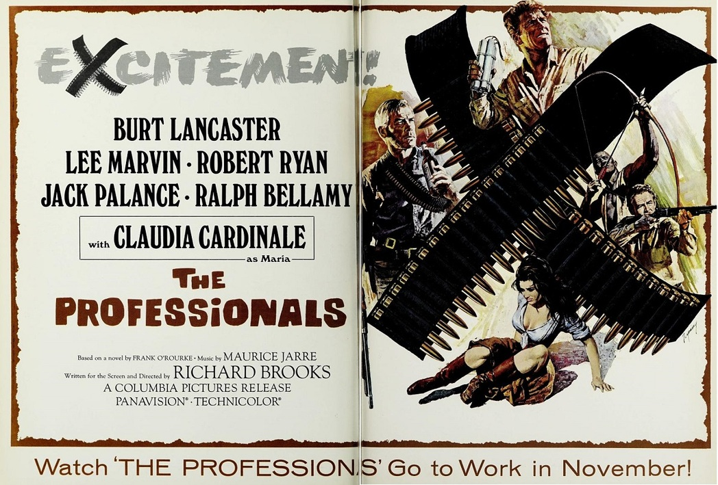 THE PROFESSIONALS BOX OFFICE USA 1966