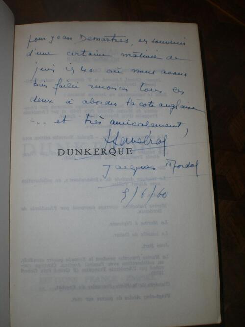 * OPERATION DYNAMO, DUNKERQUE, 3 JUIN 1940 - La tragédie du Dragueur Emile DESCHAMPS - Témoignage de l'EV Jean DEMARTRES (1914-2008)