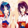 2 girls kimono kenshin