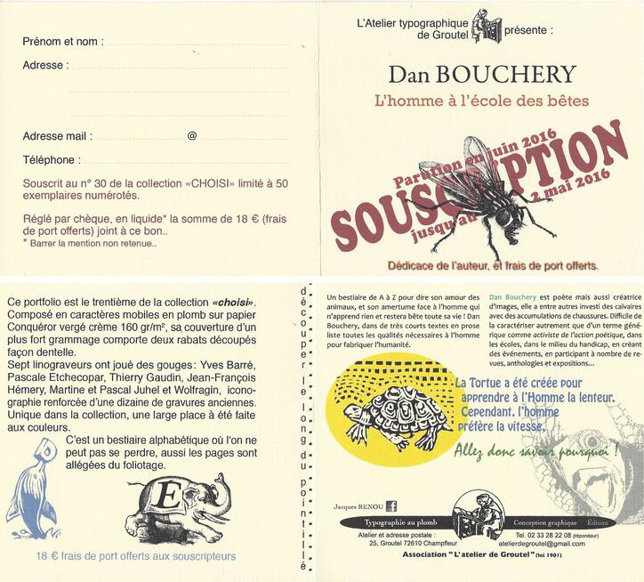 Souscription Dan Bouchery