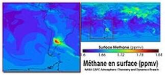 émission de méthane en argentine