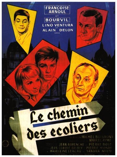 LE CHEMIN DES ECOLIERS - BOX OFFICE LINO VENTURA 1959