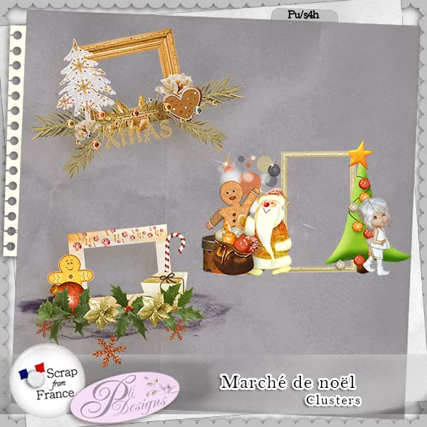"Collab ""Marché de Noël"" by designers of Scrap From France"