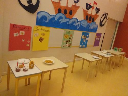 Breakfast à l'école maternelle ce matin