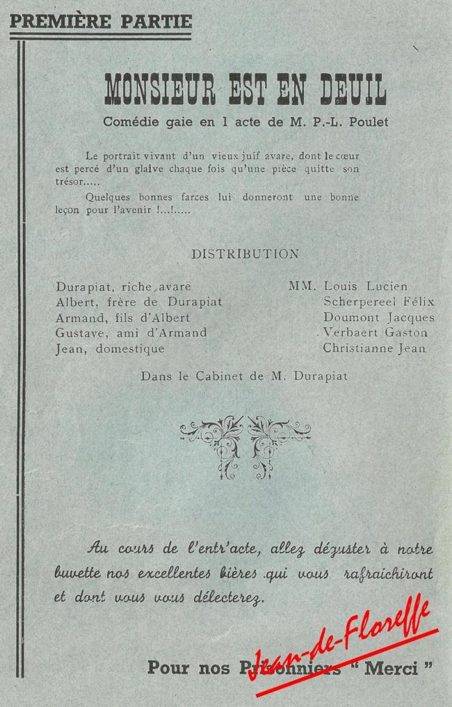 11. Soirée dramatique (21 sept. 1941)