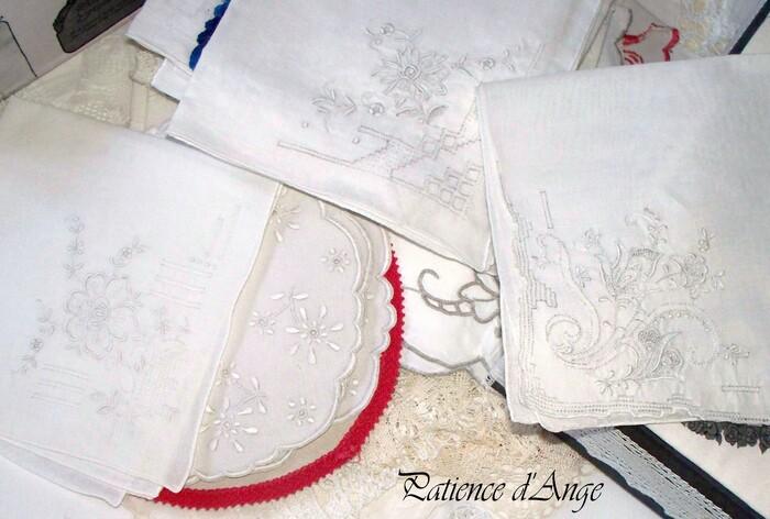 Fleurs en broderie blanche pour Lolotte Bouclée Angers Patience d'Ange