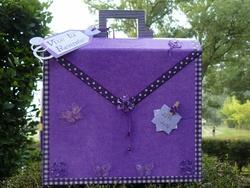 Cartable violet