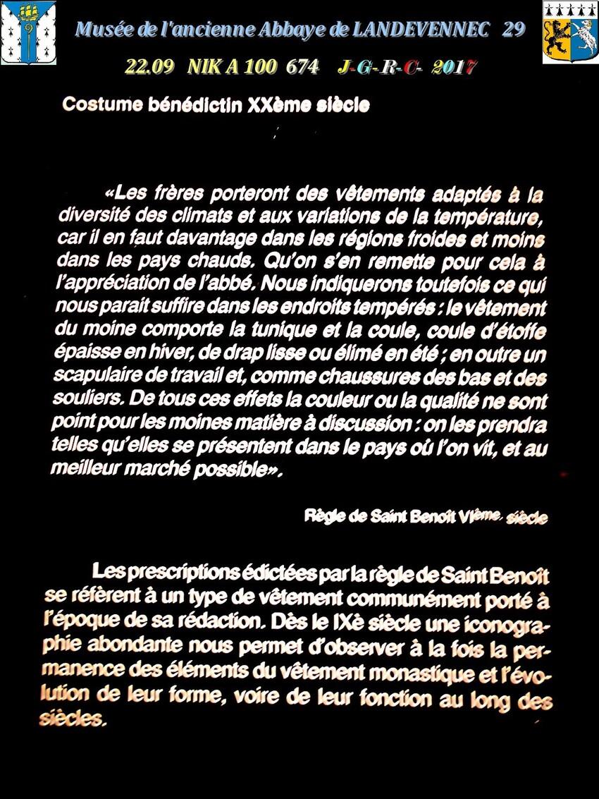 Le musée 8/9 de l'ancienne Abbaye de  LANDEVENNEC     D     09/02/2019