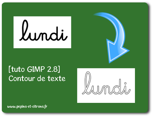 [tuto GIMP 2.8] Faire un contour de texte