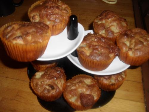 Comme c'est la chandeleur je fait des... muffins pomme/noix/caramel au beurre salé