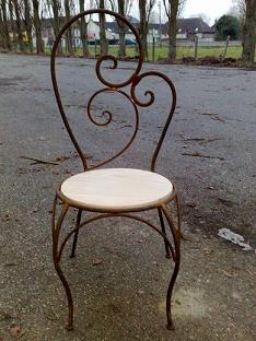 chaise en fer forgé - lestresorsdesafi - Chaise Fer Et Bois