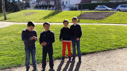 Repérage des parterres proches de l'école
