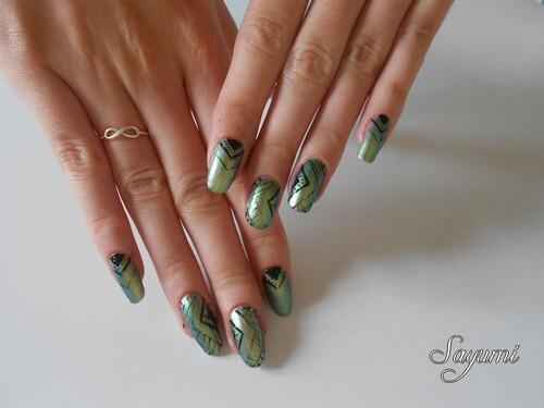 Nail Art Géométrie version jesaispluscombien