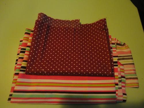 tissu pour corbeille ronde
