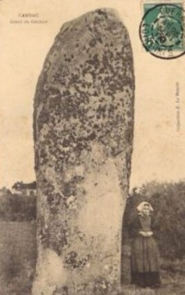 """Carnac, menhir """"Le géant de Kerdef"""""""