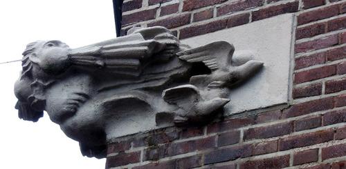 Art-déco-Fassadenelement in der Südstadt