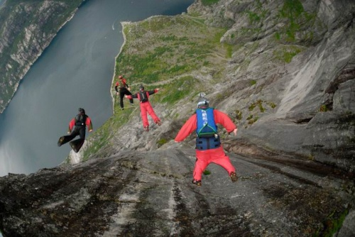 Wingsuit flying extreme