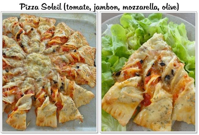 Pizza Soleil (tomate, jambon, mozzarella, olive)