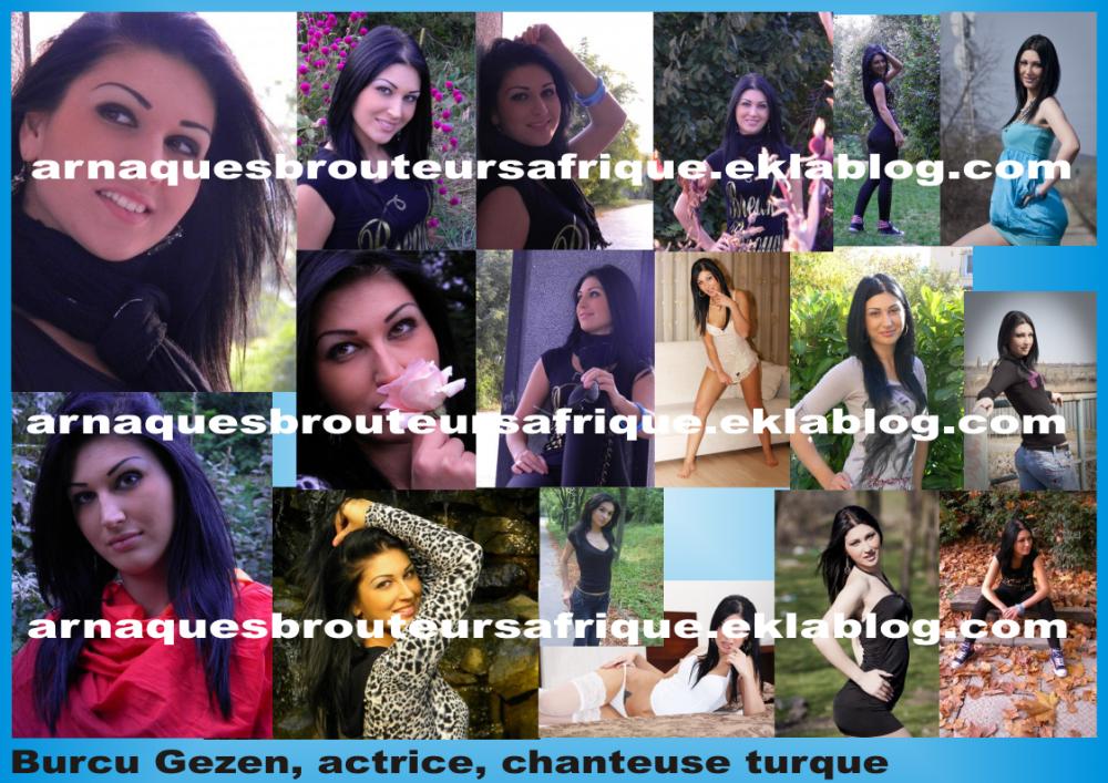 Burcu Gezen - photos volées par des brouteurs ivoiriens pour arnaquer