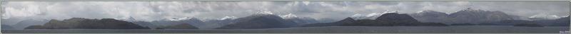 Panoramas lors de la navigation dans les divers canaux entre le détroit de Magellan et le Cap Horn - Patagonie - Chili