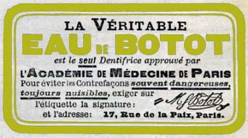 Le grand Almanach de la France : L'eau de Botot