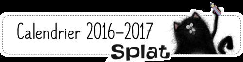 Calendrier  2016/2017 - Splat le chat