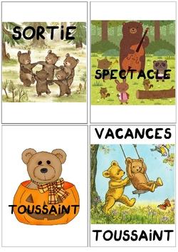 Calendrier linéaire des ours