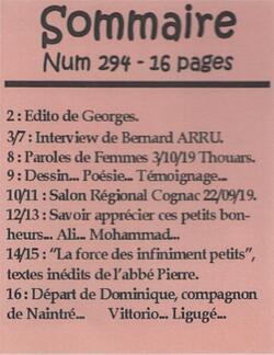 """Le journal """"De bouches à Oreilles"""" en 2019"""