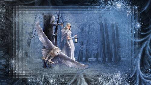 fond femme hiver - 3