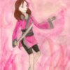 Sakura Kazehaya (aquarelle + crayons pastel secs)