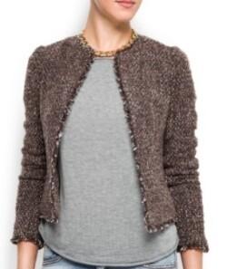 Tweed-shopping  Vestes style Chanel chez Mango - Tartangirl s Wardrobe 988b4de31da9