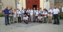 Devant l'église de Ste Catherine