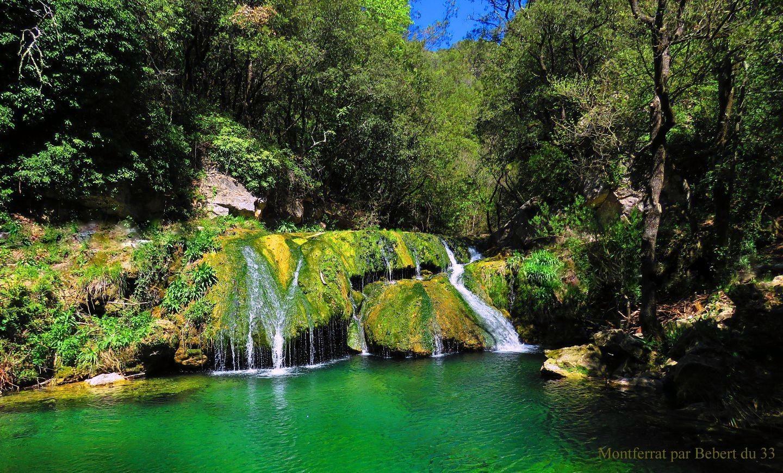 la cascade de Pierrepont dans le Var à Montferrat ,  par Bébert du 33