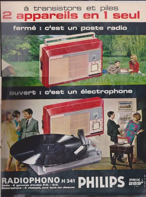 1963 C'est nouveau LE RADIOPHONO pour écouter les disques des idoles et SALUT LES COPAINS