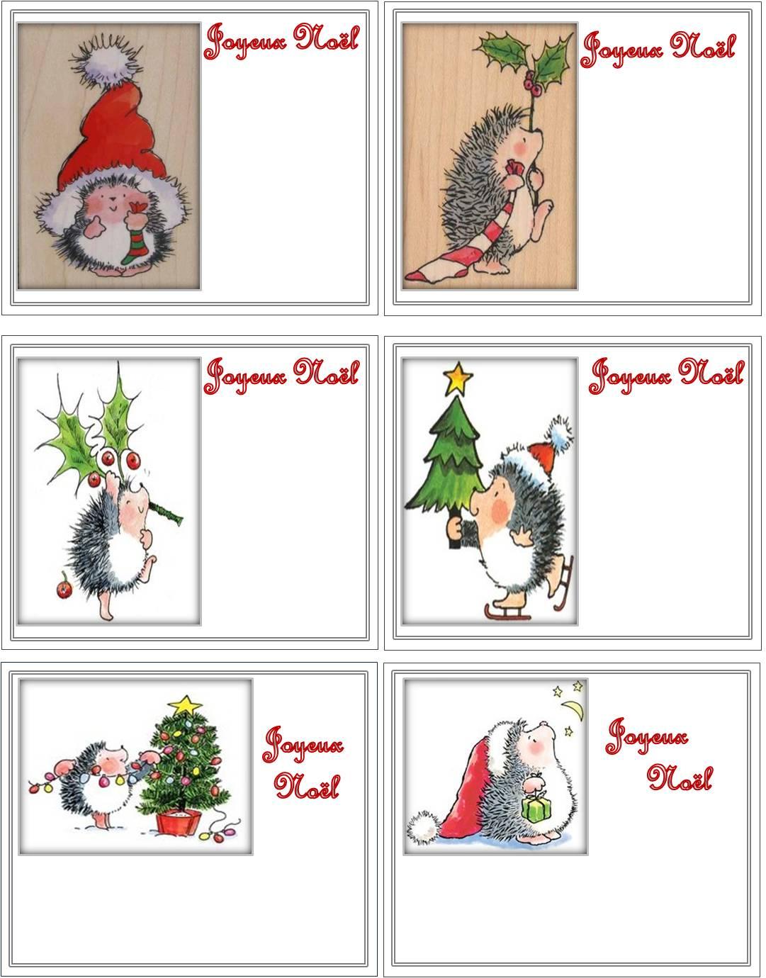 Petites cartes Joyeux Noël    Flânerie au Fil des Saisons