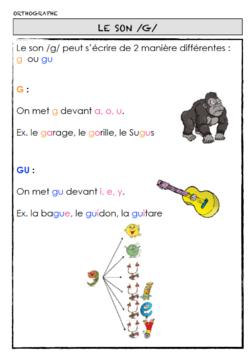 Les sons /g/ et [ʒ]