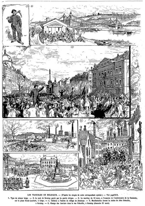 Troubles en Belgique 03 avril 1886 de L'Univers illustré-croquis (gallica)