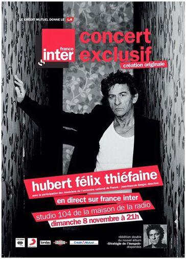 Live: H-F Thiéfaine - Studio 104 Maison de la Radio Paris - 8 Novembre 2015