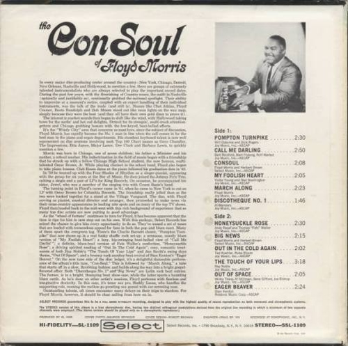 "Floyd Morris : Album "" The ConSoul Of Floyd Morris "" Select Records SSL-1109 [ US ]"
