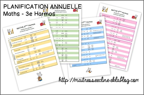 Planification annuelle de maths - 3e Harmos