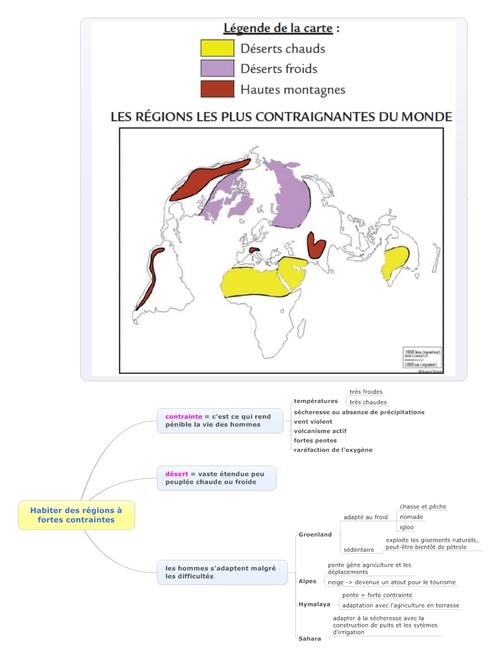 géographie - habiter des régions à fortes contraintes