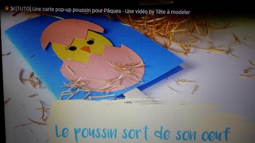 Une carte pop-up pour Pâques