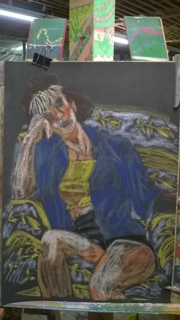 Jeudi - Toujours l'expo : La frange blonde