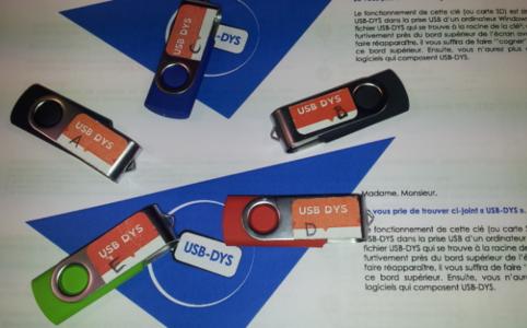 La clé USB DYS disponible en prêt C-RNT