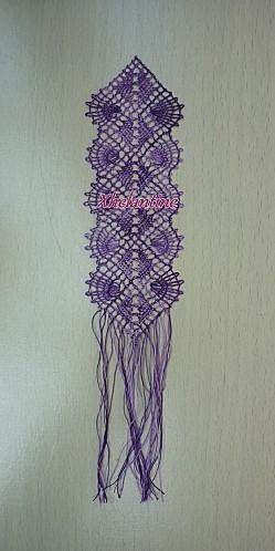 marque page violet