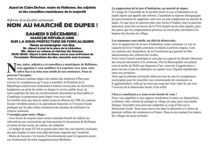 * L'Appel de la Maire de Reillanne