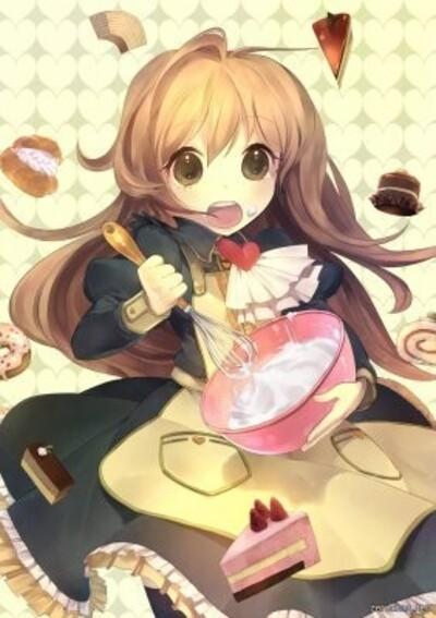 fille manga chocolat