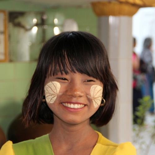 Beauté birmane au thanaka