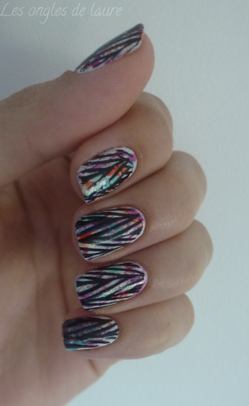 Graffiti nails // Nail Art 3en1